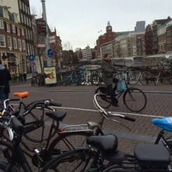 A typical Amsterdam street scene