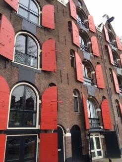 Colourful Amsterdam apartment windows