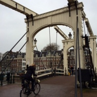 """Magere Brug, or """"Skinny Bridge"""" one of the most photographed locales in the city"""