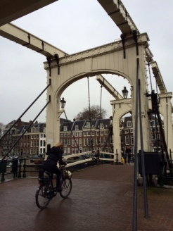 "Magere Brug, or ""Skinny Bridge"" one of the most photographed locales in the city"